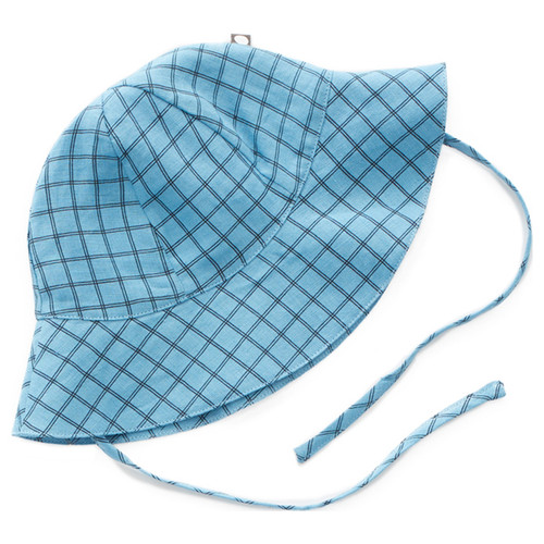 Oeuf Baby Hat, Blue Check
