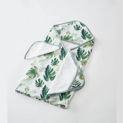 Hooded Towel Set, Tropical Leaf