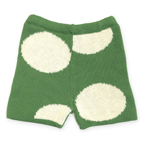 Oeuf Dot Shorts, Green/White