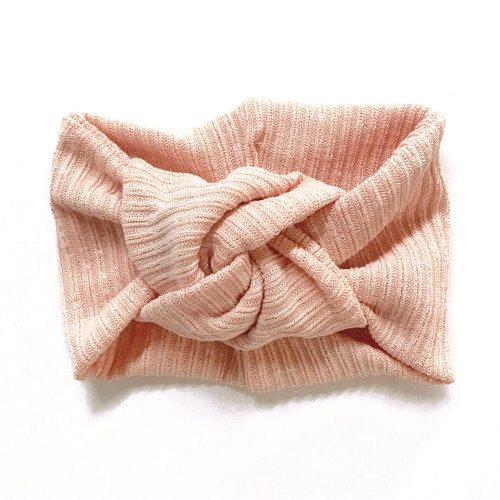Twist Knot Headband, Marled Peach