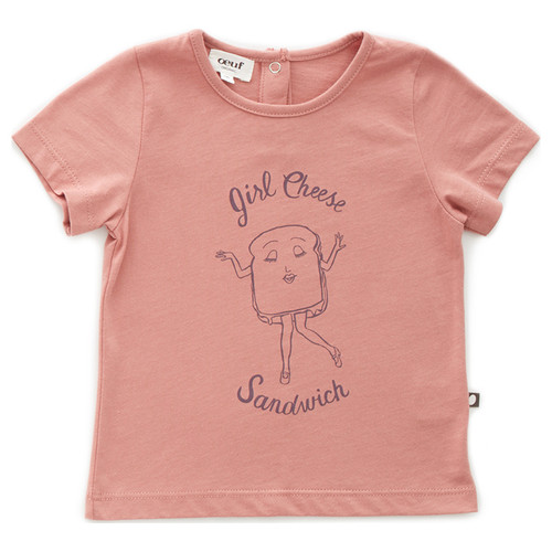Oeuf Tee Shirt, Girl Cheese