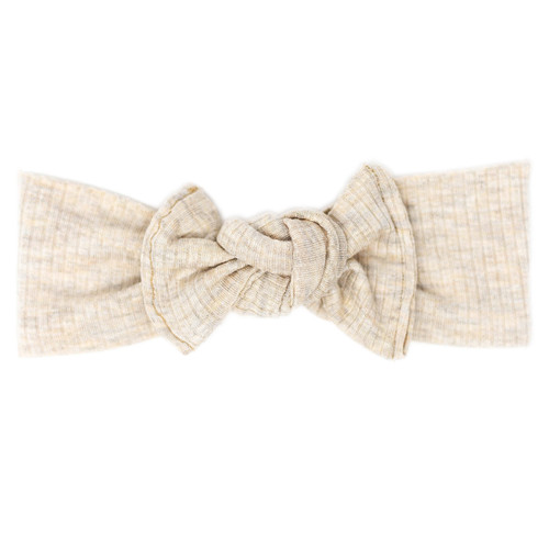 Headwrap Bow, Oatmeal