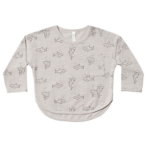 Rylee & Cru Long Sleeve Tee, Shark