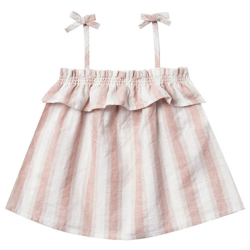 Rylee & Cru Ruffle Tube Top, Petal Stripe