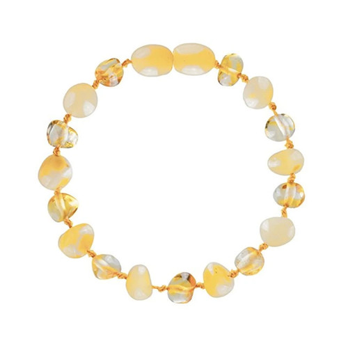 Amber Teething Bracelet, Milk & Honey
