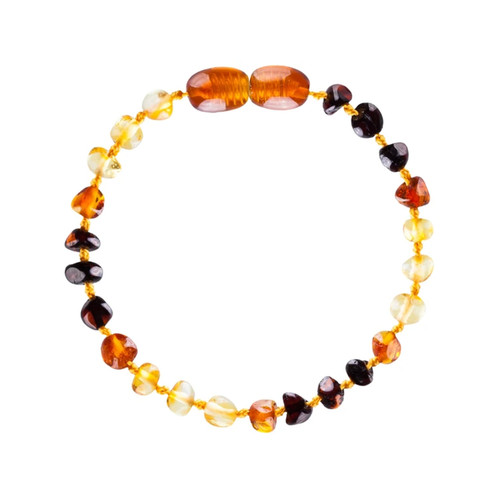 Amber Teething Bracelet, Amber Rainbow