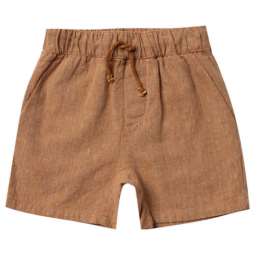 Rylee & Cru Drawstring Short, Bronze