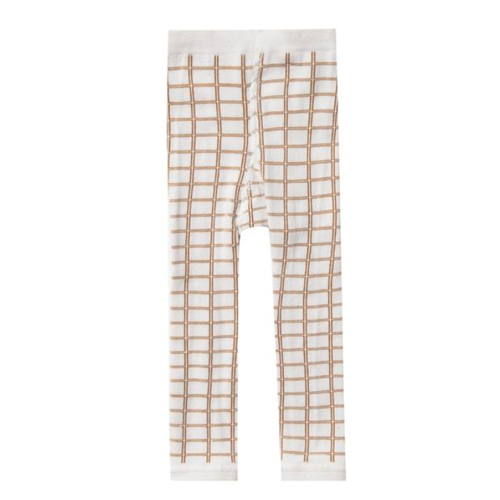 Rylee & Cru Knit Legging, Bronze Grid