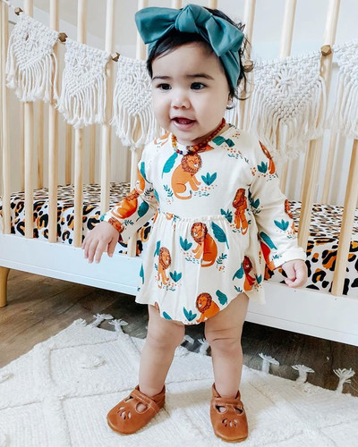 Long Sleeve Skirted Bodysuit, Lion