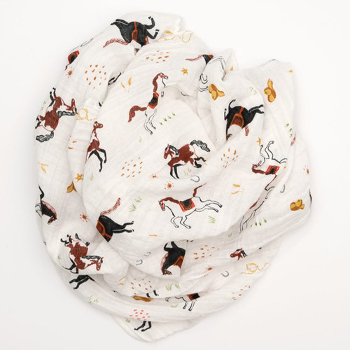 Muslin Swaddle, Howdy Horses