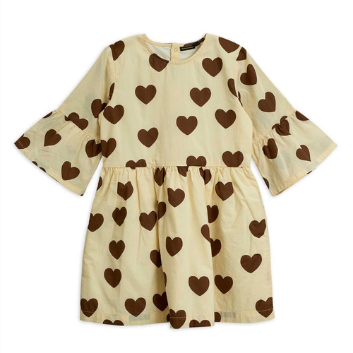 Mini Rodini Hearts Flared Sleeve Dress