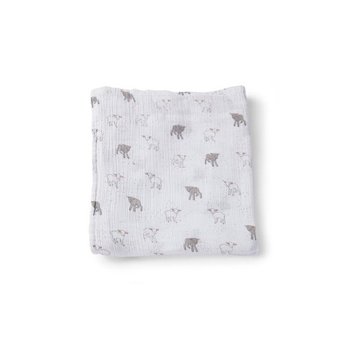 Organic Cotton Burp Cloth, Little Lamb