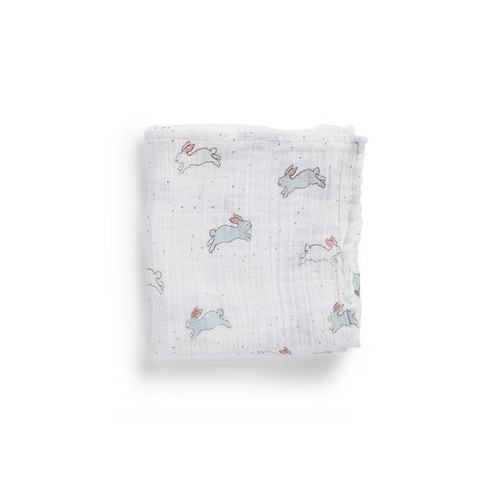 Organic Cotton Burp Cloth, Tiny Bunny