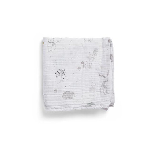Organic Cotton Burp Cloth, Magical Forest