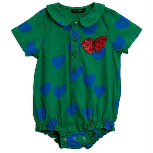 Mini Rodini Hearts/Butterfly Woven Bodysuit