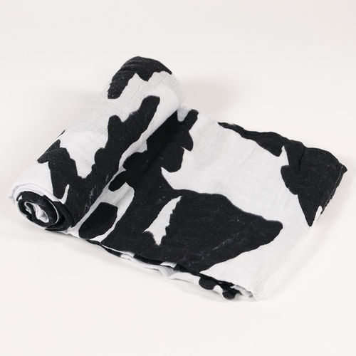Muslin Swaddle, Moo Cow