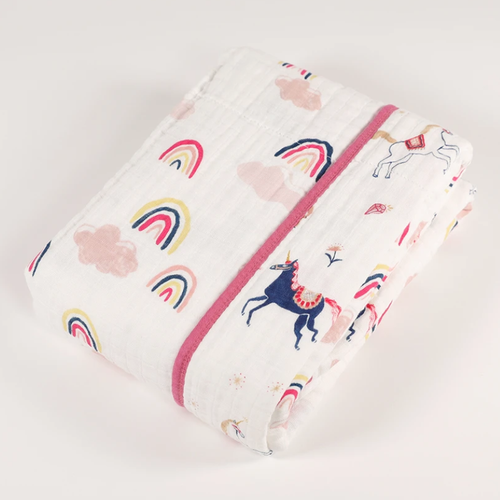 Muslin Quilt, Little Unicorns