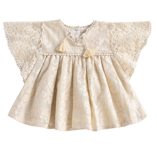 Teresa Dress, Cream Baroque Flower Girl