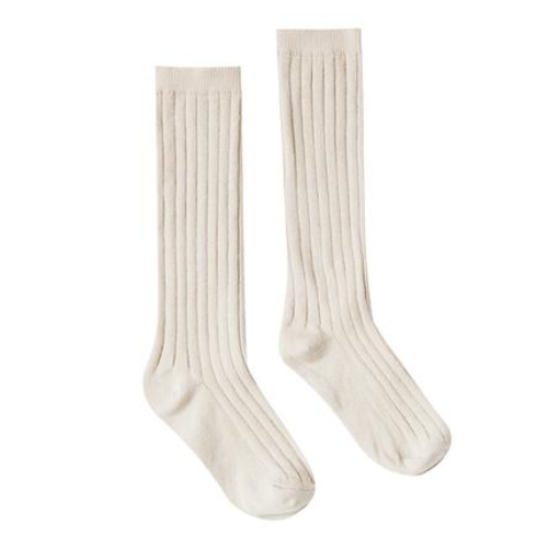 Rylee & Cru Ribbed Socks, Natural
