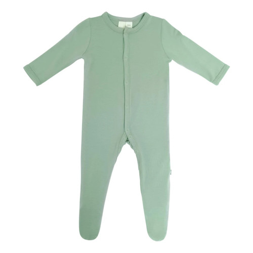 Bamboo Footed Romper, Matcha