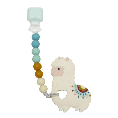 Gem Teether w/ Beads, Llama