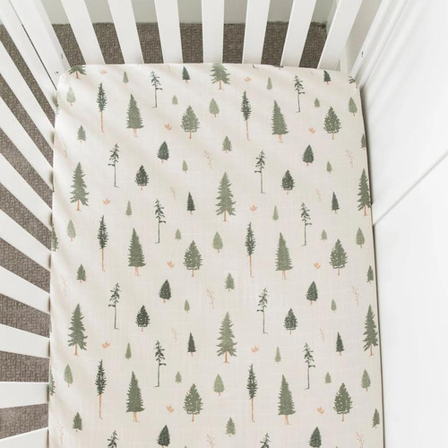 Cotton Crib Sheet, Pine