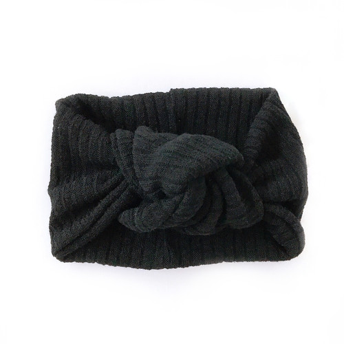 Twist Knot Headband, Black