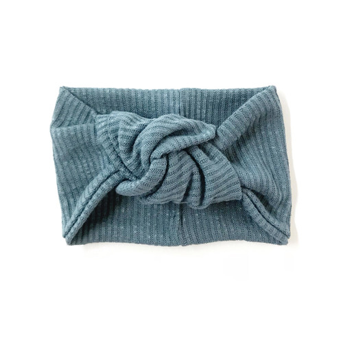 Twist Knot Headband, Slate