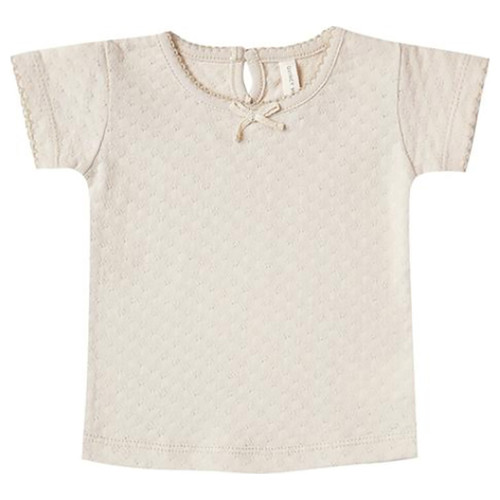 Pointelle Tee, Natural