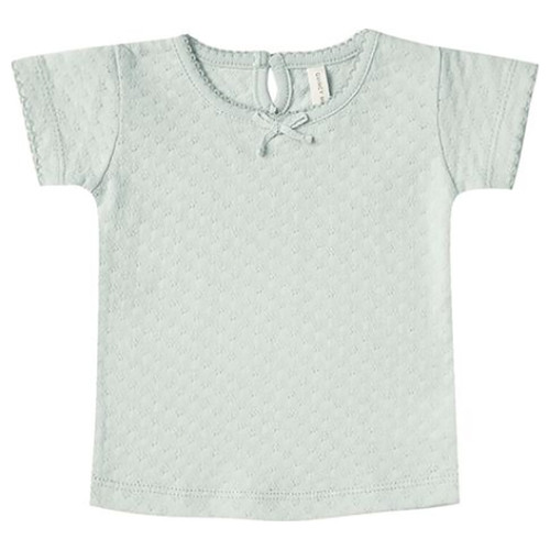 Pointelle Tee, Sea Glass
