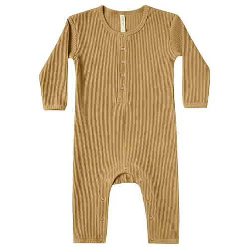 Ribbed Jumpsuit, Ochre