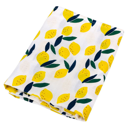 Organic Swaddle, Lemon Print