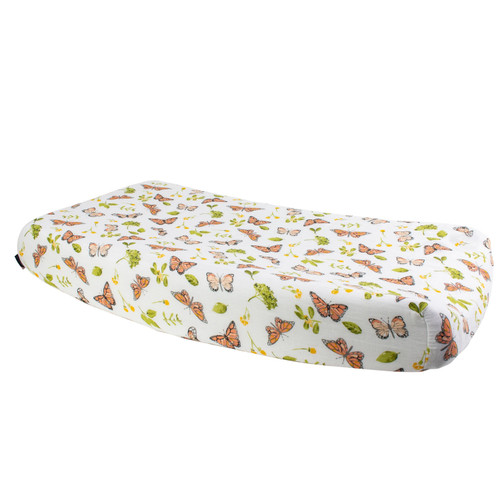 Muslin Changing Pad Cover, Butterfly