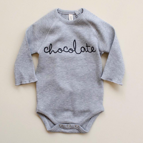 Organic Chocolate Bodysuit, Grey