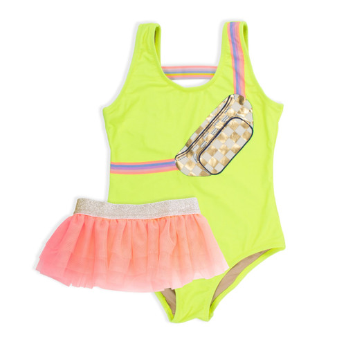 Swimsuit Set w/ Skirt, Citron Fanny Pack