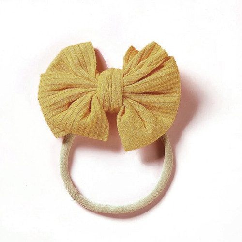 Ribbed Skinny Bow, Yellow