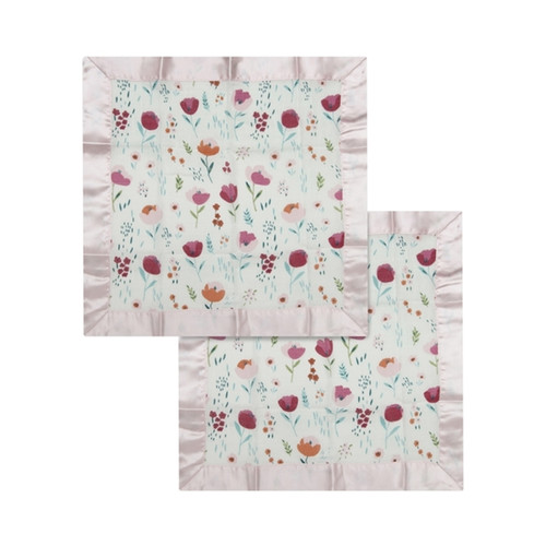 Security Blanket 2-pack, Rosey Bloom