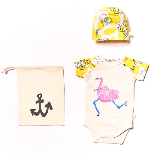 Gift Set, Yellow Ostrich