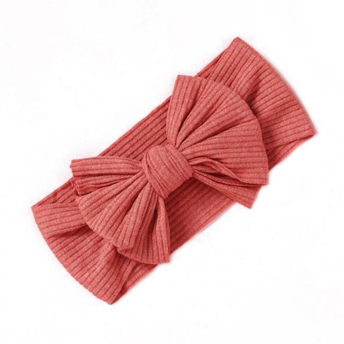 Ribbed Knot Bow, Raspberry