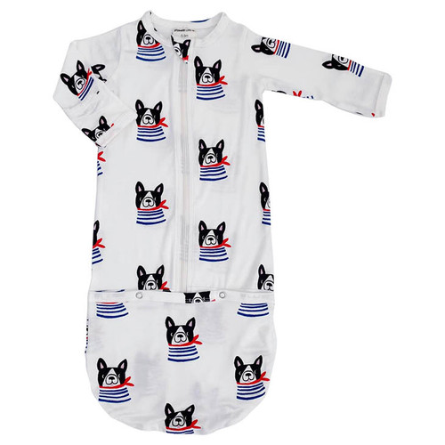 Convertible Zip Gown, Frenchie the Dog