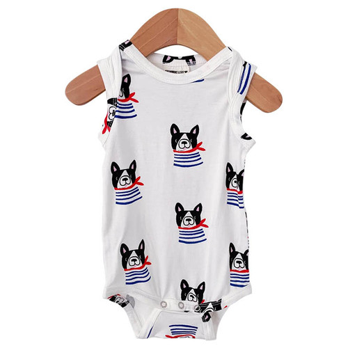 Sleeveless Bodysuit, Frenchie the Dog