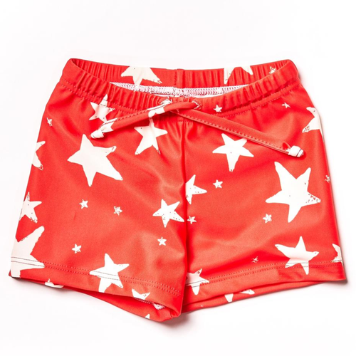 Swim Short, Red Stars