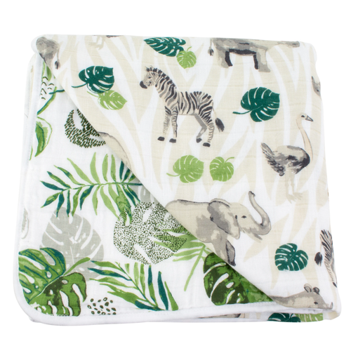 Muslin Quilt, Jungle + Rainforest