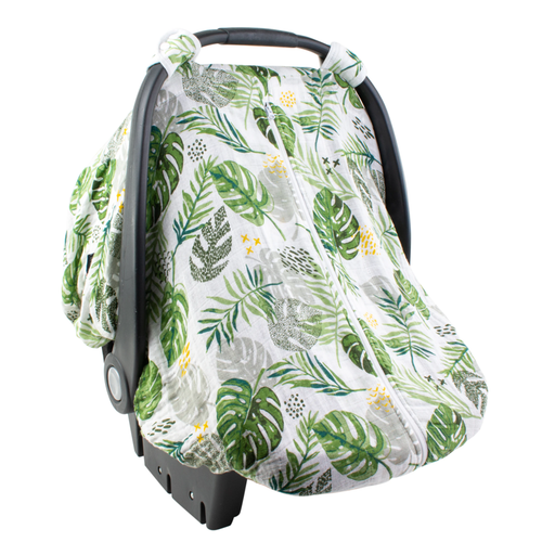 Muslin Car Seat Cover, Rainforest