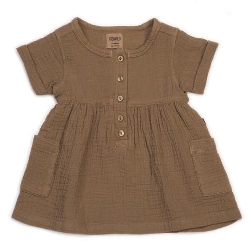 Organic Pocket Dress, Russet