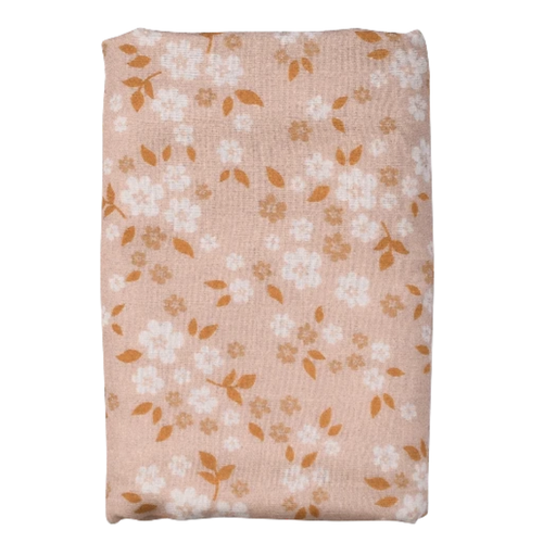 Muslin Swaddle, Whimsy Floral Peach