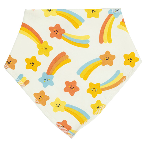 Bandana Bib, Shooting Stars Orange