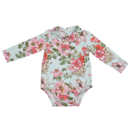 Peter Pan Collar Bodysuit, Woodrose