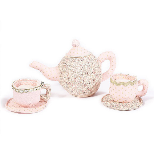 Teapot and Cups Plush Toy Set