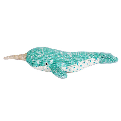 Knit Rattle, Narwhal